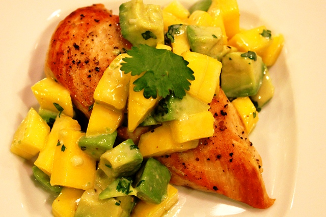 Mango & Avocado Salad with Spicy Honey Chicken | Come Cook With Me