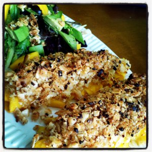 Mango Wrapped Coconut Macadamia Nut Crusted Tilapia | Come ...